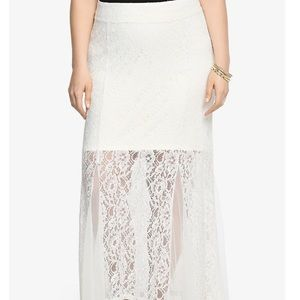 New with tags Torrid maxi lace skirt size 2